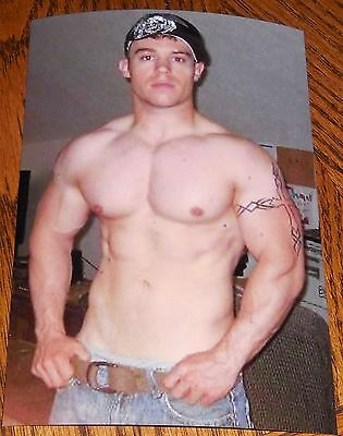 Shirtless Male Muscular Body Builder Huge Chest Arm Tatoo Hunk PHOTO 4X6 N176