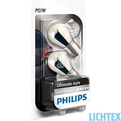 PY21W PHILIPS SilverVision - Ultimate Style Scheinwerfer Lampe DUO-Pack