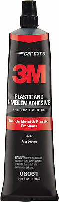 3M 08061 Plastic & Emblem Adhesive 5 ounces Made in USA Free Shipping! Clear