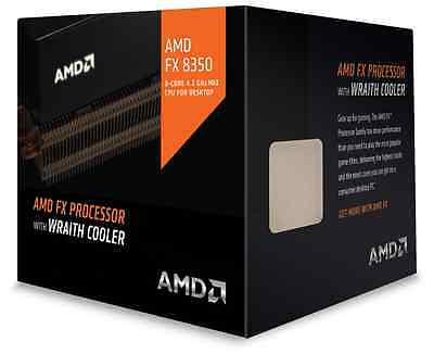 AMD FX-8350 Wraith Octo Core 4.0GHz AM3+ 8MB Cache 125W TDP CPU Processor