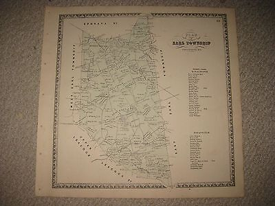 Antique 1864 Earl Township Hinkletown Lancaster County Pennsylvania Handcolr Map