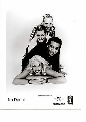 "No Doubt 8x10"" Original Glossy Black & White Band Promo Photo FREE SHIPPING"