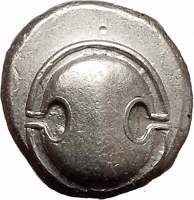BOEOTIA: THEBES, 425 BC. Silver Stater. Shield. Amphora.