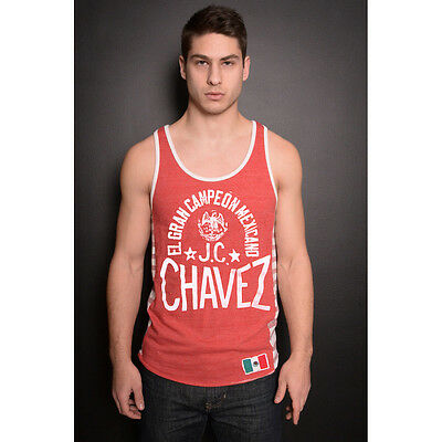 Roots of Fight Julio Chavez El Gran Campe�n Mexicano Striped Tank Top - Red