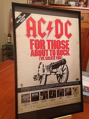 1 BIG 11X17 FRAMED AC/DC LP ALBUM CD PROMO AD - choose from 7!     ACDC AC DC