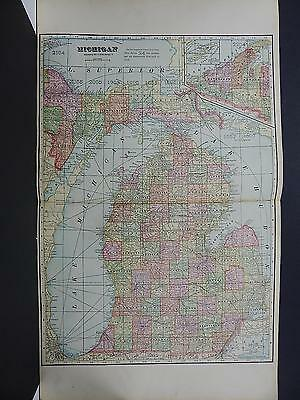 State of Michigan, Vintage Map, 1916