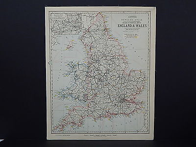 Antique Map, Lett's, 1883  England & Wales R8#03