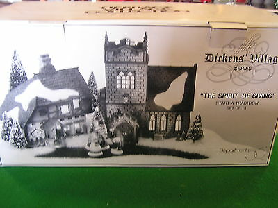 "DEPT.56  DICKENS VILLAGE ""The Spirit of Giving"" NIB ........................SALE"