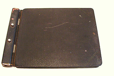 Vintage Office Accounting Ledger Leather Hard Cover  MId Century 1950s