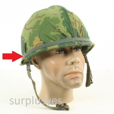 Helmet Army USMC Military Camou Elastic Band w Cat Eyes f M1 PASGT MICH w P38