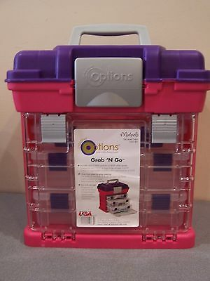 New Grab Go Craft Tackle Tool Storage Box Scrapbooking Organizer Rubber Bands