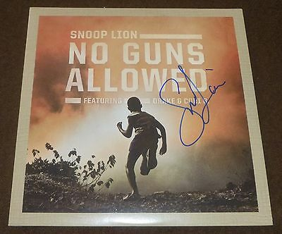 "SNOOP LION SIGNED NO GUNS ALLOWED 7"" VINYL SINGLE w/ PROOF! DOGG"