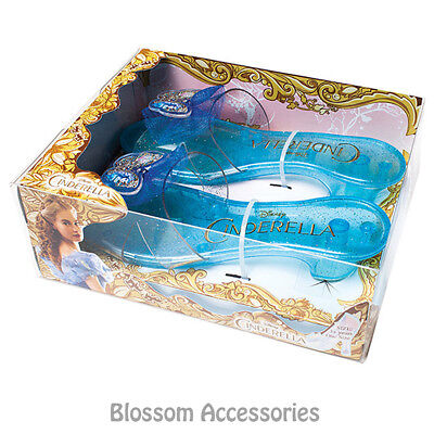 A721 Cinderella Live Action Movie Girl Glass Heels Costume Slippers Shoes Sandal