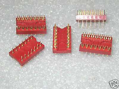 AUGAT 614-CG1  14 PIN HIGH REL COMPONENT CARRIERS - 10 pcs