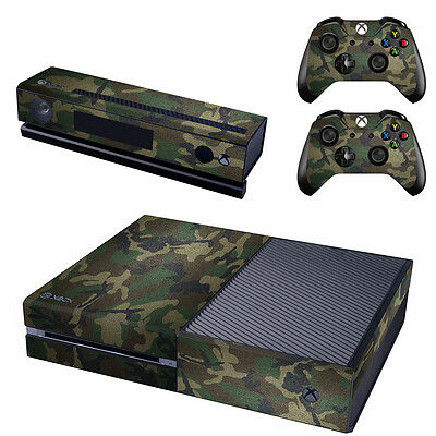 G Camo Vinyl Sticker Decal Skin for Microsoft Xbox One Console+Controllers #0254