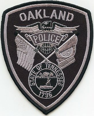 Oakland Tennessee Tn Police Patch