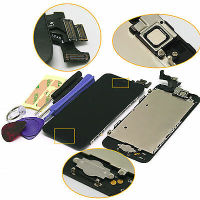 For iPhone 5 Complete Replacement LCD Screen Home Button Camera Black