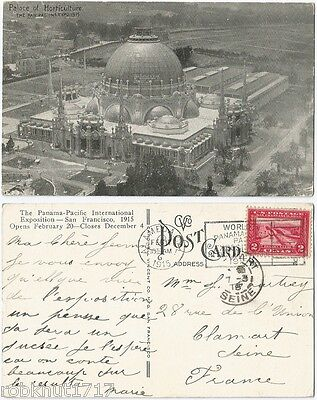CPA postcard Palace of Horticulture Panama Pacific Expo SAN FRANCISCO USA 943 A