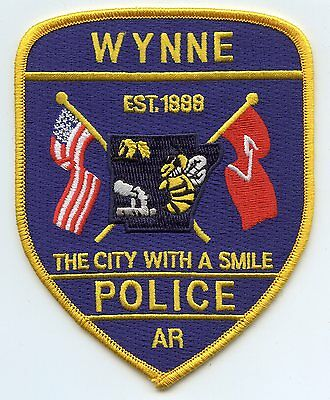 WYNNE ARKANSAS AR The City With A Smile POLICE PATCH