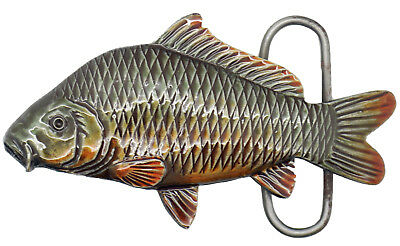 'Fishing / Carp' Pewter Belt Buckle