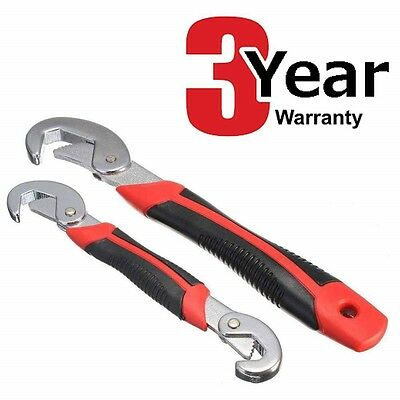 2PC SELF ADJUSTING WRENCH SET 9-32mm ONE HANDED UNIVERSAL PIPE SPANNER WRENCHES