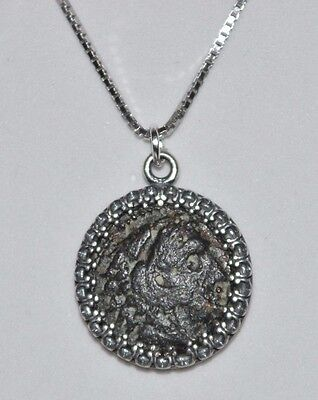 Alexander The Great Authentic Ancient Coin 925 Sterling Silver Pendant & Chain