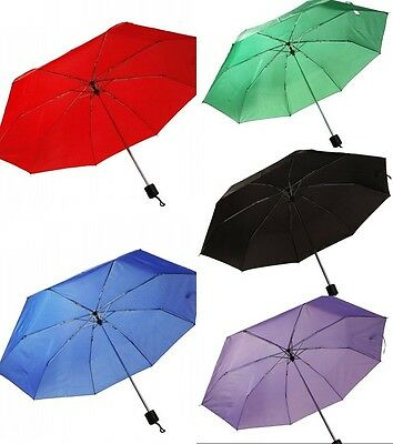 "Portable Compact Rain 42"" Folding Umbrella  W/Sleeve 5 Colors Umbrella Large"
