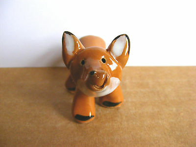 Little Guys Standing Fox Miniature Animal Figurine Cindy Pacileo Pottery