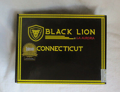 La Aurora Black Lion Connecticut Gran Toro Paper Covered Cigar Box - Nice!