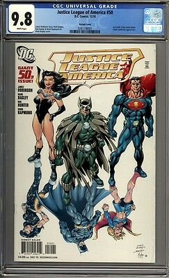 Justice League of America #50  Bagley Variant 1st Print    CGC 9.8
