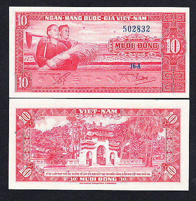 South Vietnam 10 Dong ND 1962 P. 5a UNC Note