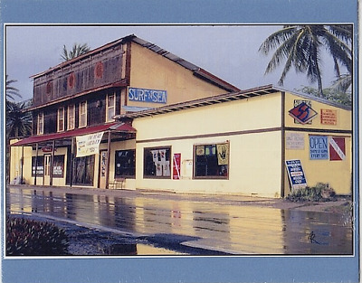 "Historic 'surf-N-Sea' Surfshop 1982 Haleiwa Oahu Giclee Photograph On 8X10"" Mat"