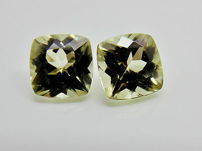 Zultanite Natural Loose Gems Pair 2 - 5.5mm 1.59 cttw Cushion Cert of Auth B038