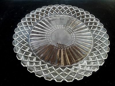 "Crystal Waterford Waffle Dinner Plate 9 5/8""(Made In USA)"