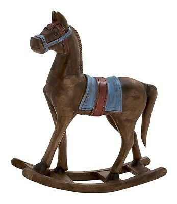 Benzara Simply Delightful Wood Rocking Horse 16569 Collectible Figurines NEW