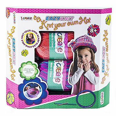 I-CREATE Eazy Knit - KNIT YOUR OWN HAT Kids Craft Set Age 8+