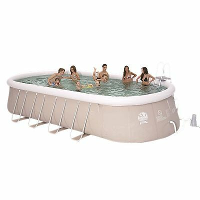 Jilong Chinook Grey 610 Set - Stahlrahmen Quick-up Pool 610x360x122cm, mit Filte