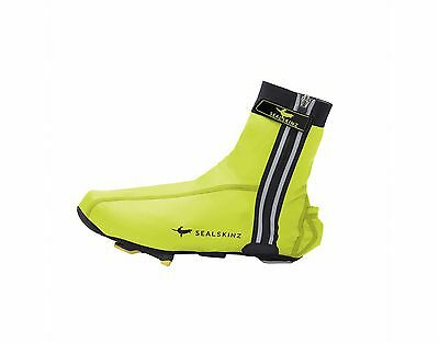 SealSkinz Lightweight Halo Cycling Overshoes - Hi-Vis Yellow