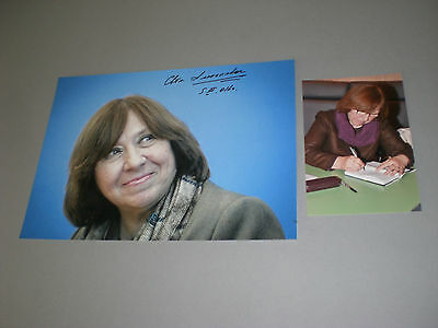 Svetlana Alexievich Alexijewitsch Nobel Prize signed  Autogramm 8x11 photo IP