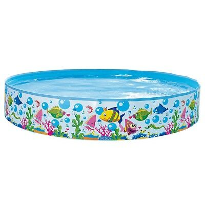 Jilong Sea World Rigid Pool 150 - Quick Fix Pool mit Meerestiere Aufdruck, für K
