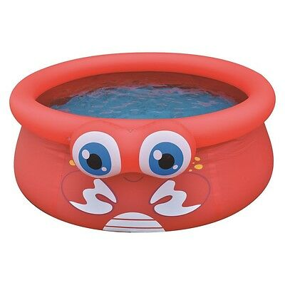 Jilong Crab Pool - roter Kinder Quick-up Pool mit lustigem 3D Krabben-Motiv, ø17