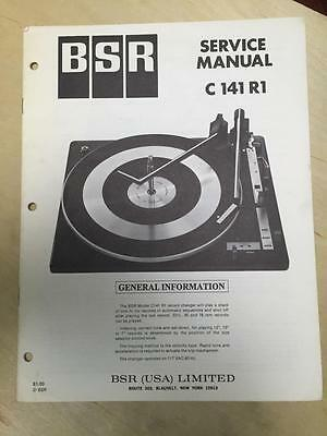BSR Service & User Manual for the C141R1 Turntable Record Changer