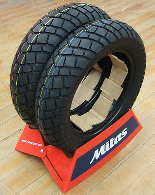 Mitas MC19 Dirt Flat Track Scooter Tires Grom Tires 120/80-12 130/80-12 Z125 PRO