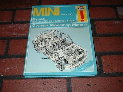 Haynes Manual For Mini. 1969 To 1982.cooper 1275Gt  Clubman.