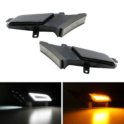 Smoked Amber/White Switchback LED Side Marker Lights For 07-10 Porsche Cayenne