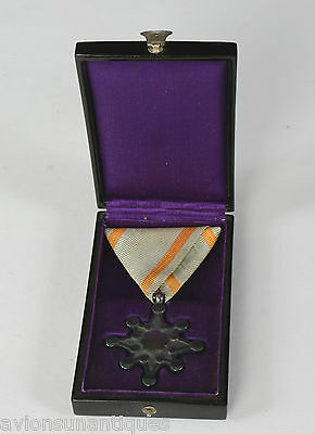 Japanese Medal Order of the Sacred Treasure 8th Class WW2 With Case
