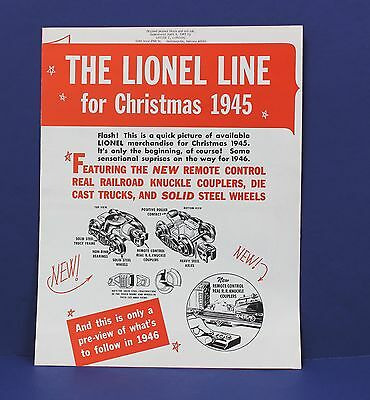 The Lionel Line for Christmas 1945 Train Catalog 1967 Gordon Reprint (3 for $10)