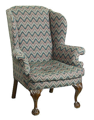 SWC-Walnut Chippendale Style Wingchair with Shells