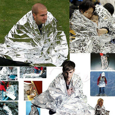 Outdoor Rescue Blanket Waterproof Emergency Survival Foil Thermal First Aid 1Pc