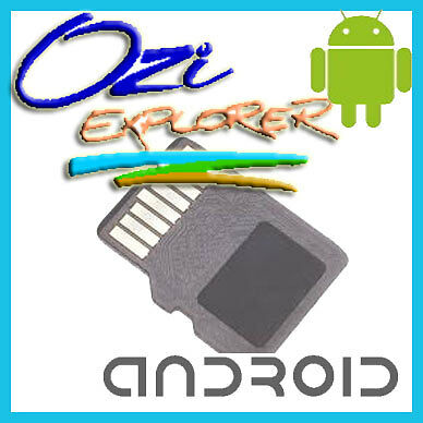 OziExplorer Android + Off Road Australian maps on Micro SD Samsung Galaxy Tablet